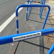 sticker - bicycling saved my life