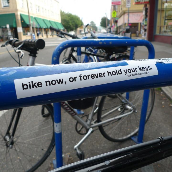 sticker bike now hold keys