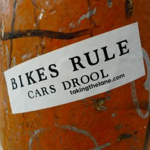 sticker bikes rule cars drool