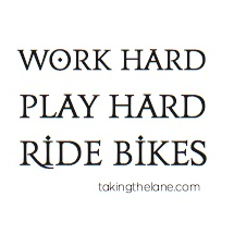 sticker - work hard, play hard, ride bikes
