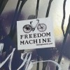 sticker freedom machine decal bicycle bike