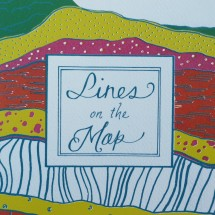 lines on the map taking the lane zine six