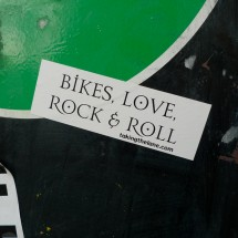 sticker bikes love and rock and roll decal
