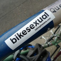 sticker bikesexual bike bisexual