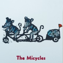 the micycles letterpress card