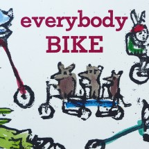 everybody bike post card