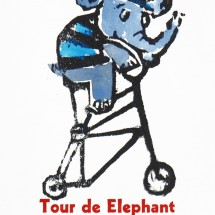 tour de elephant tall bicycle