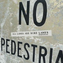 all lanes are bike lanes sticker