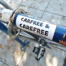 car-free and care-free sticker