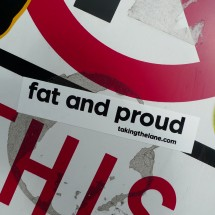 fat and proud sticker decal